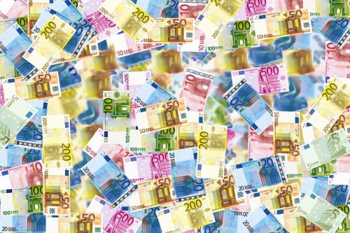 billets colorés euros