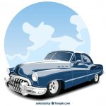 old-blue-car