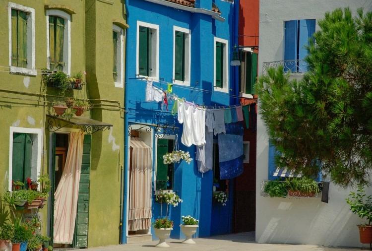 linge séchant maisons colorées burano