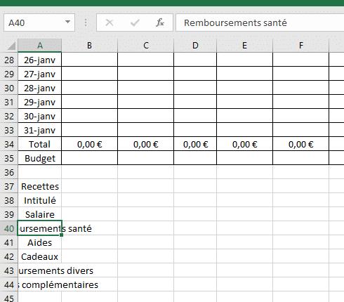 Connu Tuto : créer un tableau Excel pour faire ses comptes - Famille économe MQ49