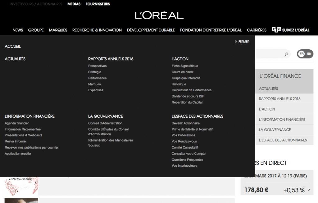 L'oréal site web 2