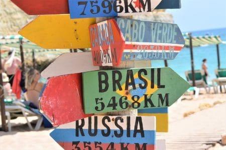 panneaux distances pays