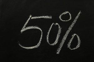 réduction -50%