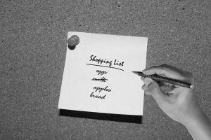 liste de courses