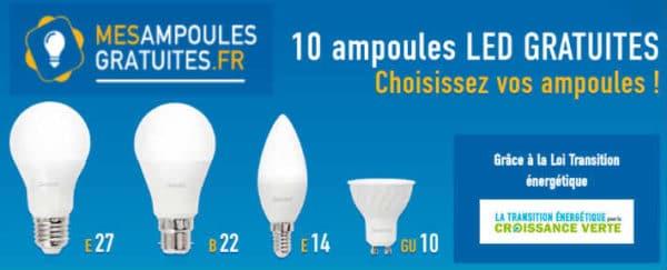 10 ampoules gratuites le bon plan du moment famille econome. Black Bedroom Furniture Sets. Home Design Ideas