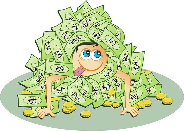 avoir de l'argent pour devenir riche